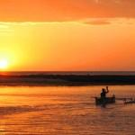 15. Sunset and fisherman