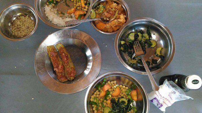 cooking with harvested veg