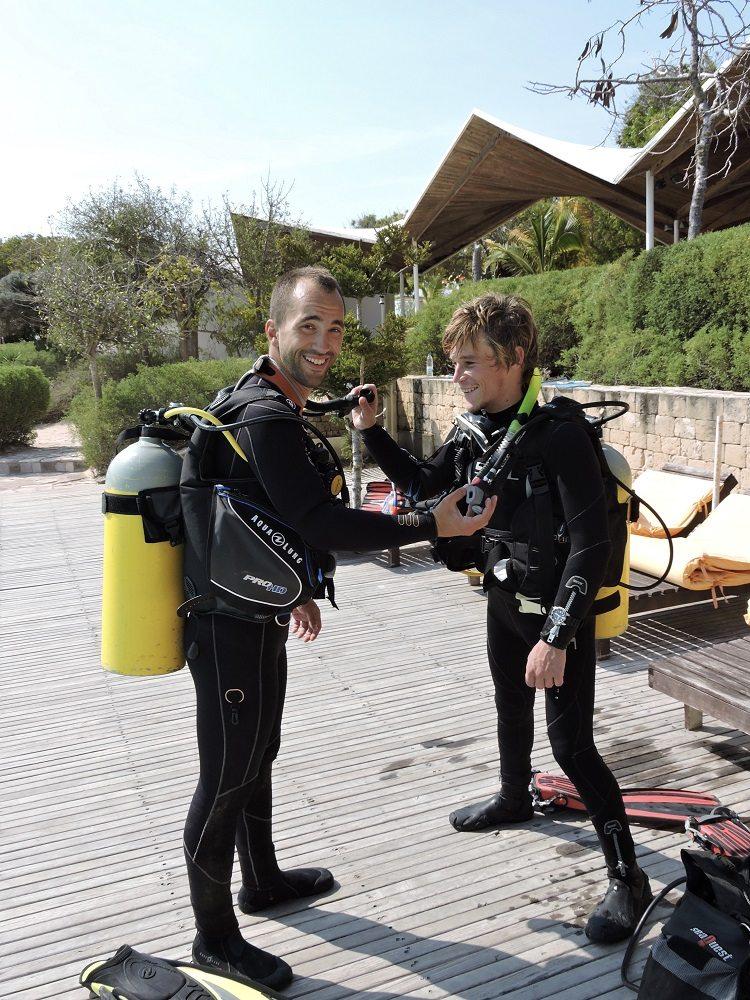 dive training at Nautilus