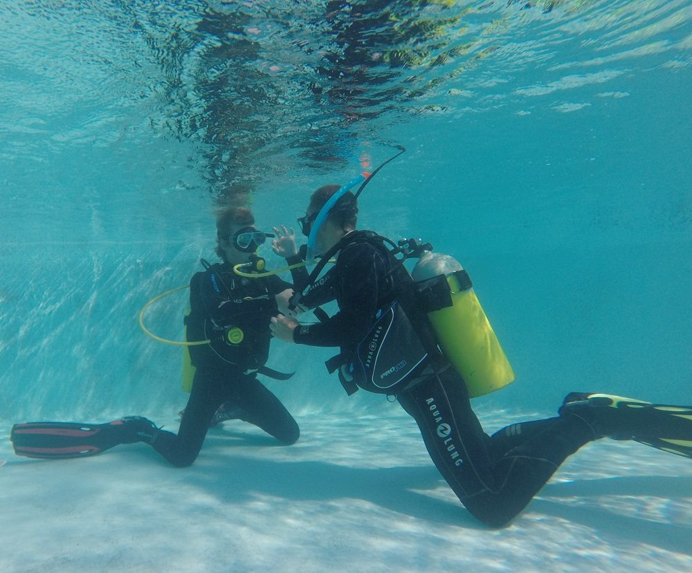 pool dive training