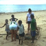 kids club and PADI ware beach clean