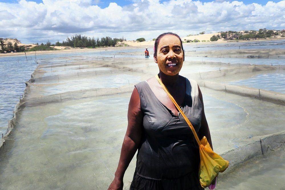 women seacucumber farmer